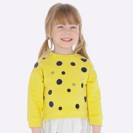 Bluza z falbanką dziewczęca Mayoral 4403-84 Bursztyn