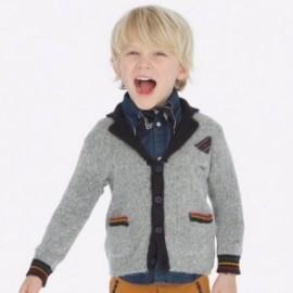 Sweter trykotowy elegancki dla chłopca Mayoral 4437-76 Szary