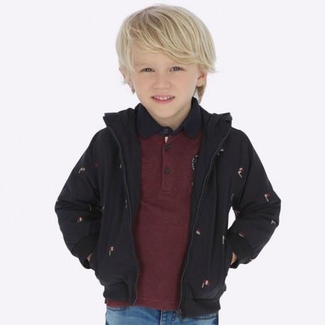 Kurtka z haftami dla chłopca Mayoral 4439-8 Granat