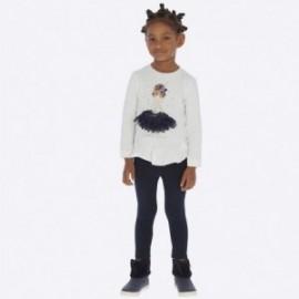 Komplet bluzka z leginsami dla dziewczynki Mayoral 4709-67 Granatowy