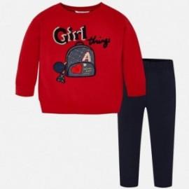 Komplet bluzka z leginsami dla dziewczynki Mayoral 4715-49 Granatowy