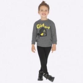 Komplet bluzka z leginsami dla dziewczynki Mayoral 4715-48 Czarny