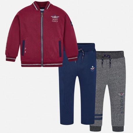 Dres bluza 2 pary spodni dresowych chłopięcy Mayoral 4808-62 Burak