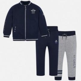 Dres bluza 2 pary spodni dresowych chłopięcy Mayoral 4808-63 Granatowy