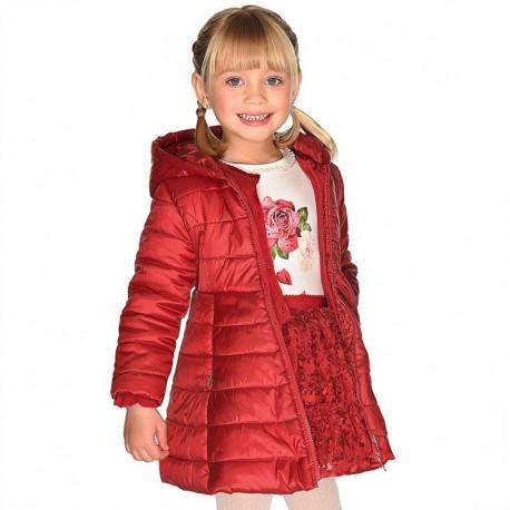 Spódnica w kwiaty z efektem 3D dla dziewczynki Mayoral 4902-74 Czerwony