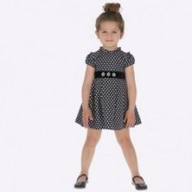Sukienka żakardowa w groszki dla dziewczynki Mayoral 4932-95 Granatowy