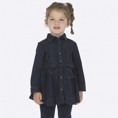 Sukienka jeansowa z kryształkami dla dziewczynki Mayoral 4933-5 Jeans