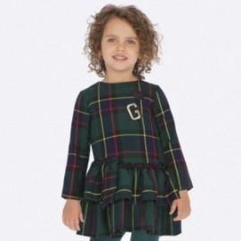 Sukienka w kratkę dla dziewczynki Mayoral 4937-40 Butelkowy