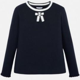 Koszulka z długim rękawem dla dziewczynki Mayoral 7007-95 Granatowy