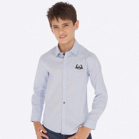 Koszula z długim rękawem chłopięca Mayoral 7121-52 Błękitny