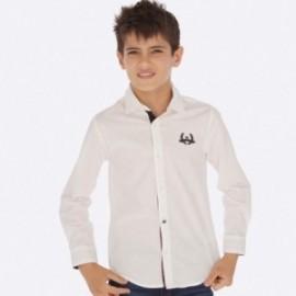 Koszula z długim rękawem chłopięca Mayoral 7121-53 Biały