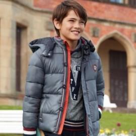 Ciepły sweter z kołnierzem szalowym dla chłopca Mayoral 7310-38 Granat