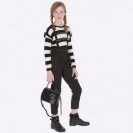 Spodnie długie z szelkami dziewczęce Mayoral 7506-2 Czarny