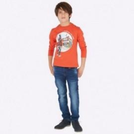 Spodnie z miękkiego jeansu chłopięce Mayoral 7509-52 Ciemny