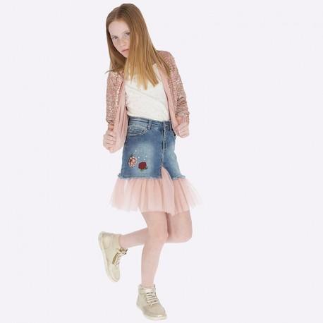 Spódnica jeans dla dziewczynki Mayoral 7910-67 Jasny