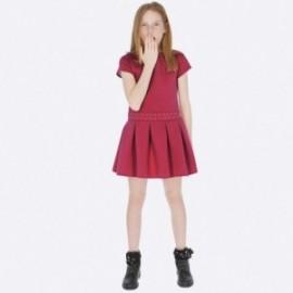 Dzianinowa sukienka na co dzień sportowa dziewczęca Mayoral 7939-64 Fuksja
