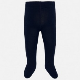 Rajstopy ciepłe bawełniane dla dziewczynki Mayoral 10628-40 Granatowy