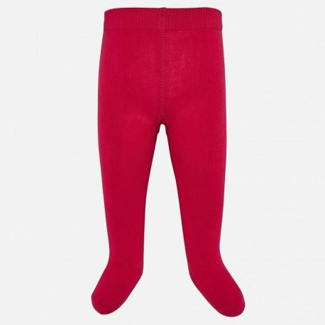 Rajstopy ciepłe bawełniane dla dziewczynki Mayoral 10628-31 Szkarłat