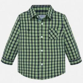 Koszula z długim rękawem w kratę chłopięca Mayoral 2112-11 Pistacjowy
