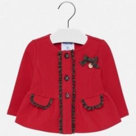 Bluza bawełniana elegancka dla dziewczynki Mayoral 2424-74 Szkarłat