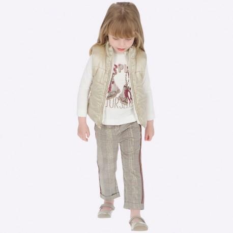 Spodnie długie z lampasem dla dziewczynki Mayoral 4504-95 Brąz