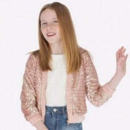 Bluza z cekinami na stójce dla dziewczynki Mayoral 7409-30 Kwarc