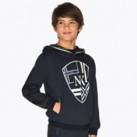 Bluza kangurka z kapturem dla chłopca Mayoral 7434-83 Tytan