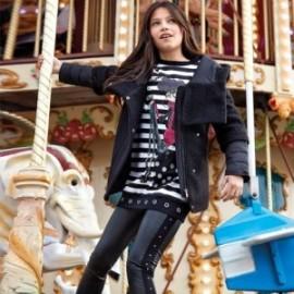 Spodnie długie sportowe dla dziewczynki Mayoral 7507-75 Czarny