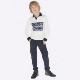 Spodnie dresowe z lampasami moro dla chłopca Mayoral 7521-83 Tytan