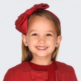Opaska elegancka z kokardką i perełkami dla dziewczynki Mayoral 10713-74 Czerwony