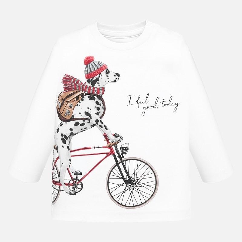 Koszulka z długim rękawem dla chłopca Mayoral 2026-10 Biały