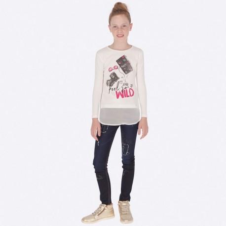 Spodnie długie jeans dla dziewczynki Mayoral 7503-46 Granat