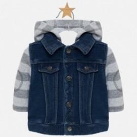 Kurtka przejściowa bawełna z jeansem chłopięca Mayoral 2415-5 Jeans