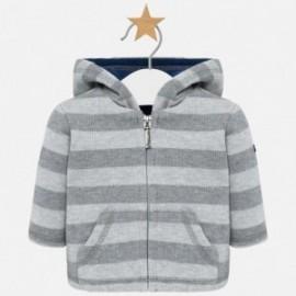 Bluza bawełniana z kapturem dla chłopca Mayoral 2419-37 Ołowiany