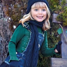 Sweter z falbanką pod szyję dla dziewczynki Mayoral 4303-18