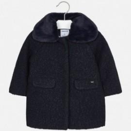 Płaszcz z bukli z kołnierzem dziewczęca Mayoral 4413-41 Granatowy