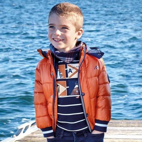 Kurtka na zimę z odpinanym kapturem dla chłopca Mayoral 4442-68 Glina