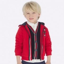 Bluza bawełniana z kapturem dla chłopca Mayoral 4453-95 Czerwony