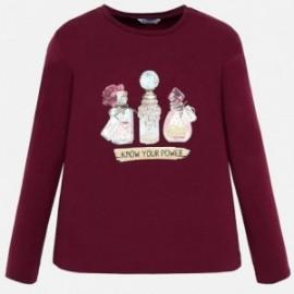 Koszulka z długim rękawem dla dziewczynki Mayoral 7013-84 Rubin