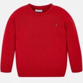 Sweter bawełniany pod szyję chłopięcy Mayoral 311-21 Czerwony