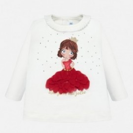 Koszulka z długim rękawem dla dziewczynki Mayoral 2011-64 Szkarłat