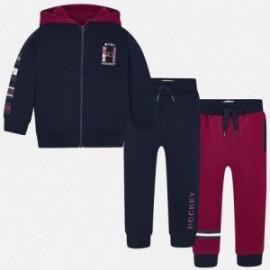 Dres bluza 2 pary spodni dresowych chłopięcy Mayoral 4812-81 Granatowy