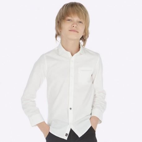Koszula z długim rękawem z muszką chłopięca Mayoral 7120-55 Biały