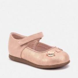 Buciki balerinki w kotki z paskiem dla dziewczynki Mayoral 42014-26 Różowy