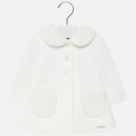 Płaszcz elegancki z kołnirzykiem dla dziewczynki Mayoral 2426-91 Kremowy