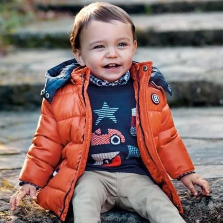 Kurtka zimowa pikowana z kapturem dla chłopca Mayoral 2448-85 Dynia