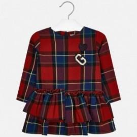 Sukienka w kratkę dla dziewczynki Mayoral 4937-41 Czerwony