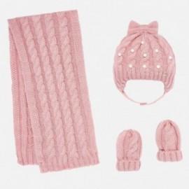Komplet czapka i szalik dla dziewczynki Mayoral 10644-53 Różowy