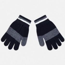 Rękawiczki pięciopalczaste trójkolorowe dla chłopca Mayoral 10686-28 Granatowy