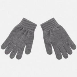 Rękawiczki z pięcioma palcami gładkie dla chłopca Mayoral 10687-47 Antracyt